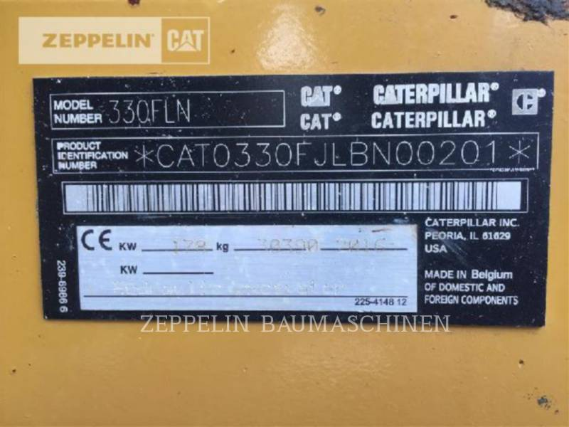 CATERPILLAR EXCAVADORAS DE CADENAS 330FLN equipment  photo 5