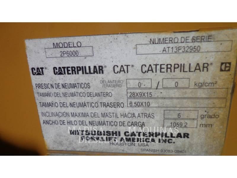CATERPILLAR LIFT TRUCKS PODNOŚNIKI WIDŁOWE 2P6000 equipment  photo 8