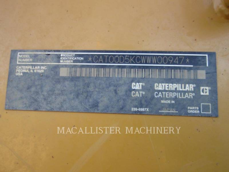 CATERPILLAR TRACTORES DE CADENAS D5K XL equipment  photo 7