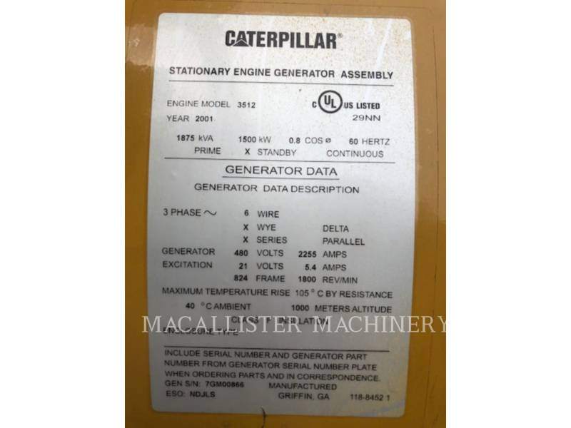 CATERPILLAR Grupos electrógenos fijos 3512B equipment  photo 10