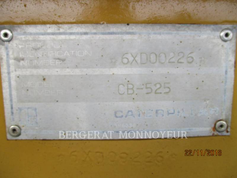 CATERPILLAR COMBINATION ROLLERS CB-525 equipment  photo 9