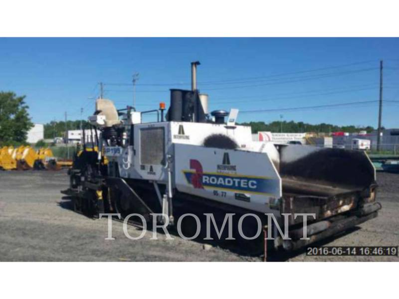 ROADTEC FINISSEURS RP195 equipment  photo 2