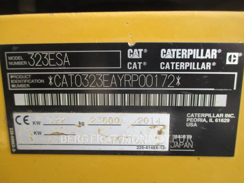 CATERPILLAR TRACK EXCAVATORS 323E equipment  photo 5