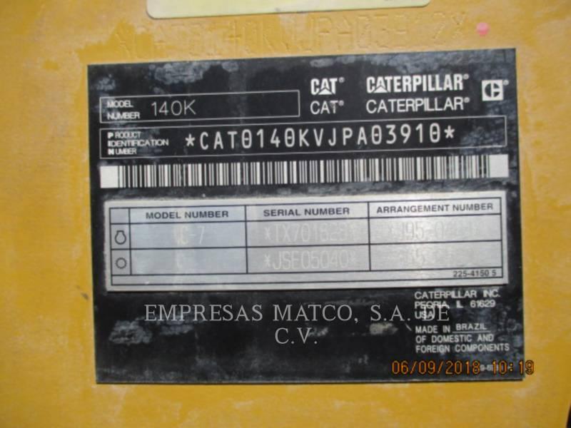 CATERPILLAR MOTONIVELADORAS 140 K equipment  photo 5