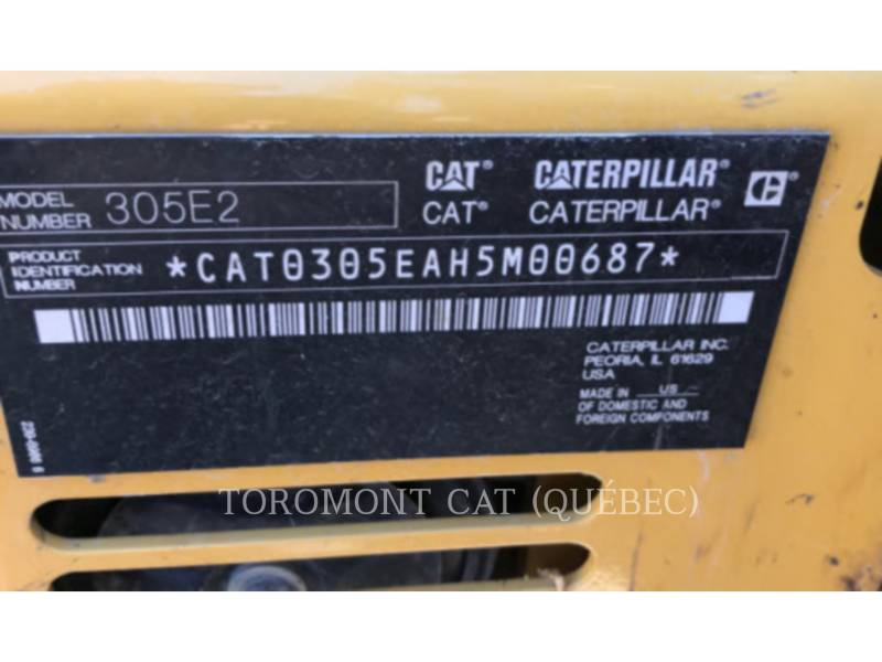 CATERPILLAR トラック油圧ショベル 305E2CR equipment  photo 13