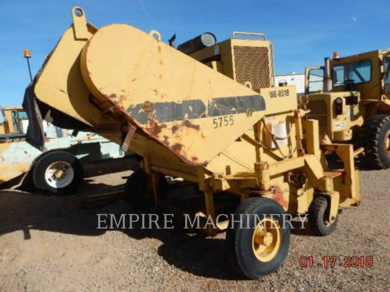 CATERPILLAR MACCHINE RACCOLTA DETRITI PAVIMENTAZIONE STRADALE WE-851B equipment  photo 8