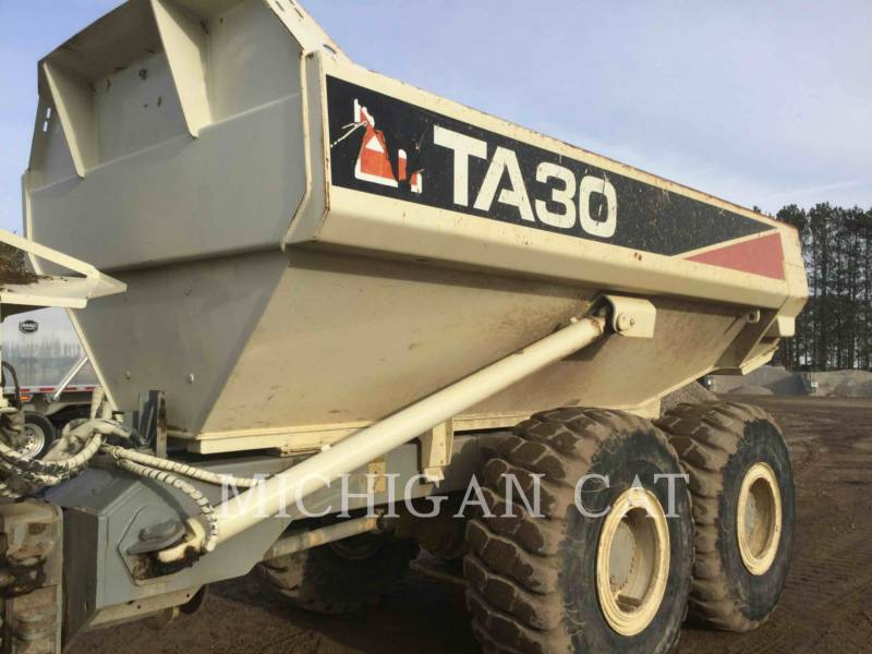 TEREX CORPORATION ARTICULATED TRUCKS TA30 equipment  photo 17