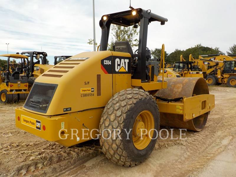 CATERPILLAR VIBRATORY SINGLE DRUM SMOOTH CS54 equipment  photo 11