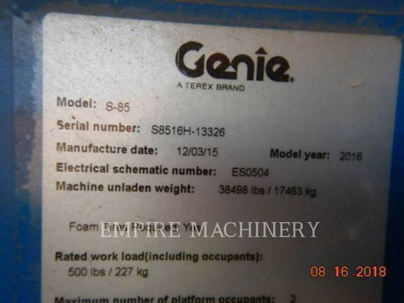 GENIE INDUSTRIES INNE S-85 equipment  photo 6