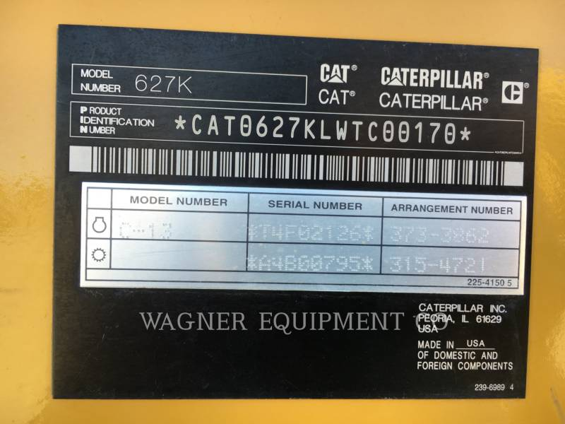 CATERPILLAR DECAPEUSES AUTOMOTRICES 627K equipment  photo 5