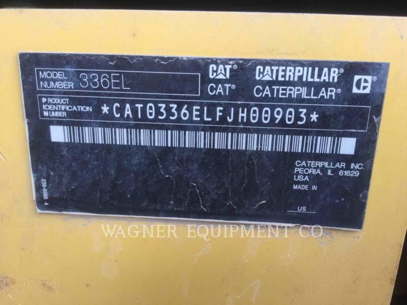 CATERPILLAR ESCAVATORI CINGOLATI 336EL THB equipment  photo 10