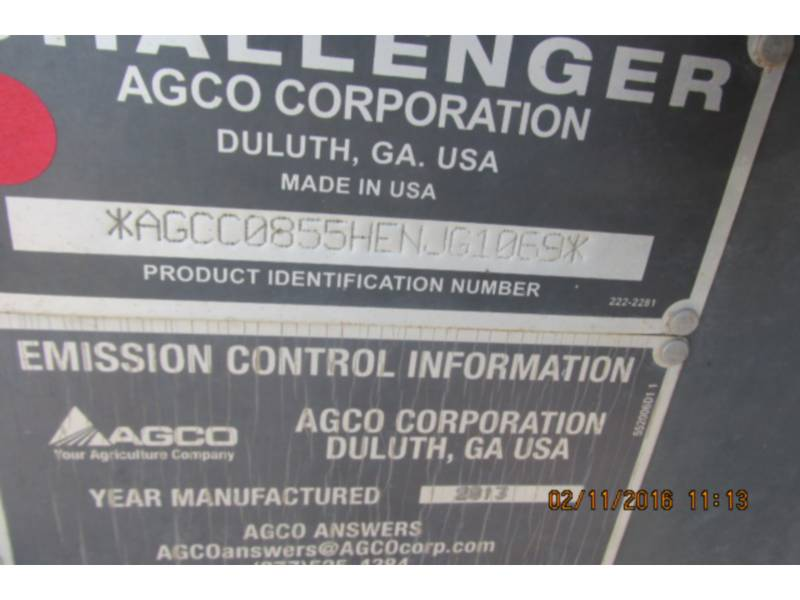 AGCO-CHALLENGER TRACTEURS AGRICOLES MT855C equipment  photo 23