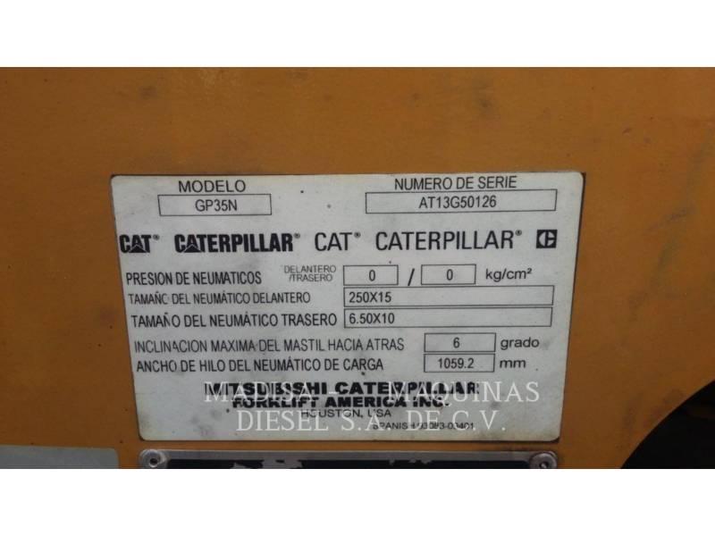 CATERPILLAR LIFT TRUCKS CHARIOTS À FOURCHE GP35N equipment  photo 5