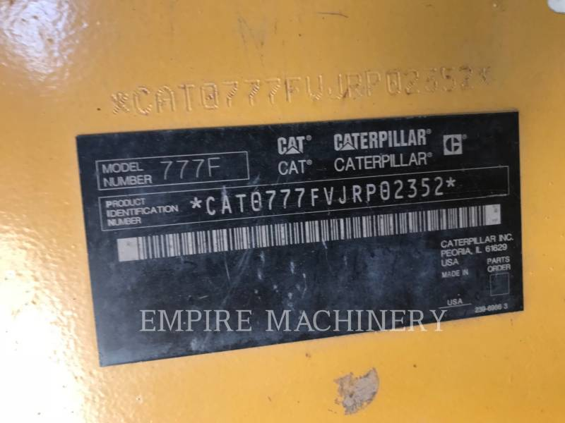 CATERPILLAR OFF HIGHWAY TRUCKS 777F equipment  photo 10