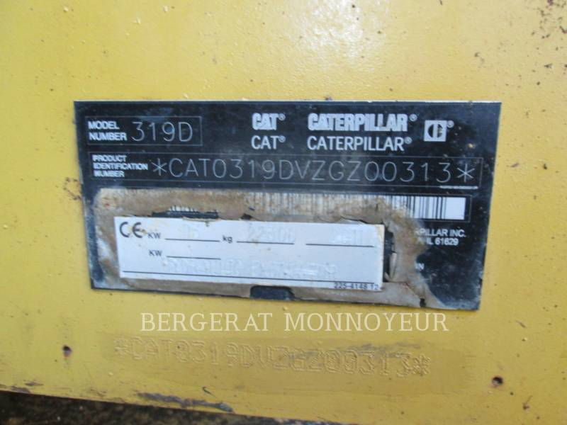 CATERPILLAR KETTEN-HYDRAULIKBAGGER 319D equipment  photo 12