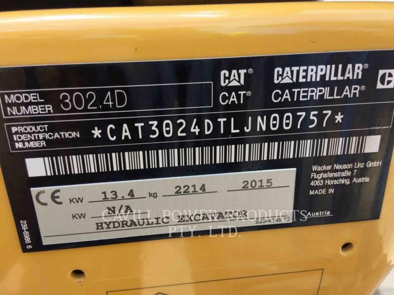 CATERPILLAR TRACK EXCAVATORS 302.4D equipment  photo 2