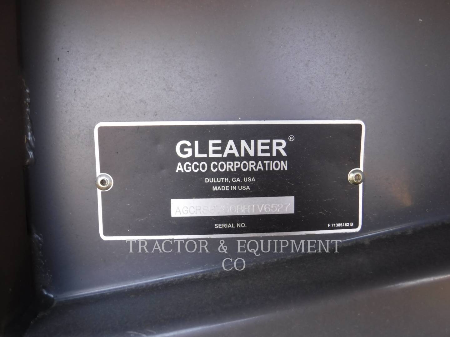 Detail photo of 2011 Gleaner S67 from Construction Equipment Guide