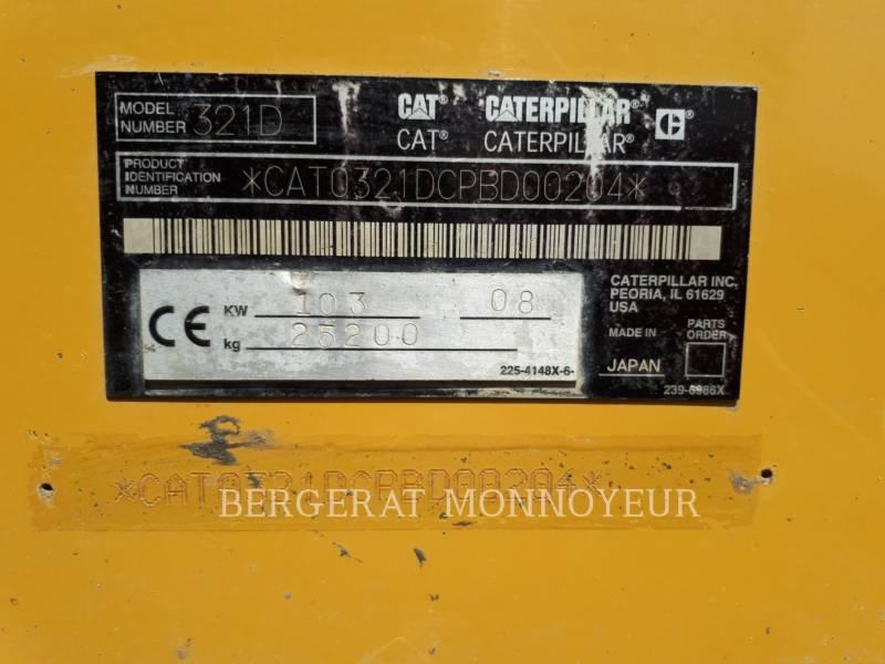 CATERPILLAR TRACK EXCAVATORS 321D CR equipment  photo 5