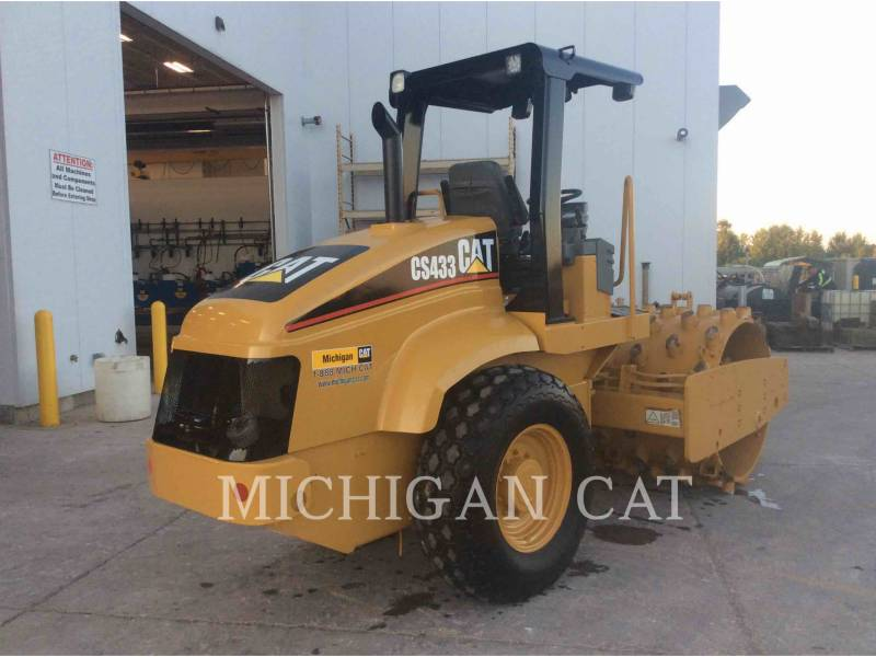 CATERPILLAR EINZELVIBRATIONSWALZE, GLATTBANDAGE CS-433E equipment  photo 3