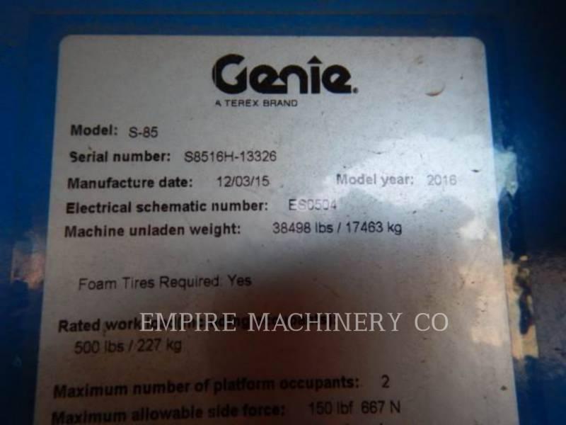 GENIE INDUSTRIES OTROS S-85 equipment  photo 9