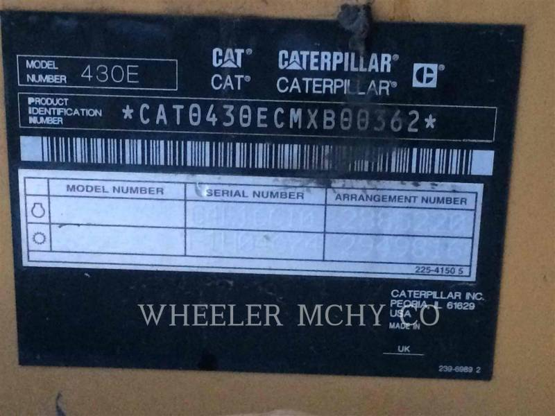 CATERPILLAR BAGGERLADER 430E ITECF equipment  photo 10