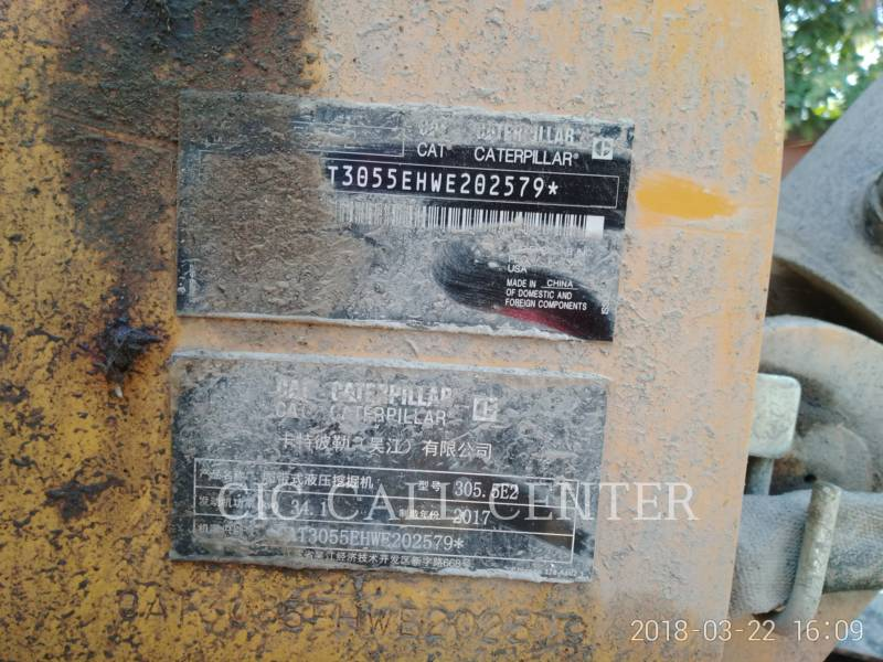 CATERPILLAR TRACK EXCAVATORS 305.5E2 equipment  photo 7