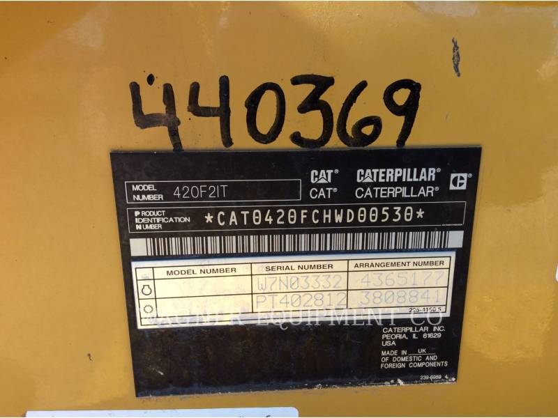 CATERPILLAR CHARGEUSES-PELLETEUSES 420F2 IT4W equipment  photo 5