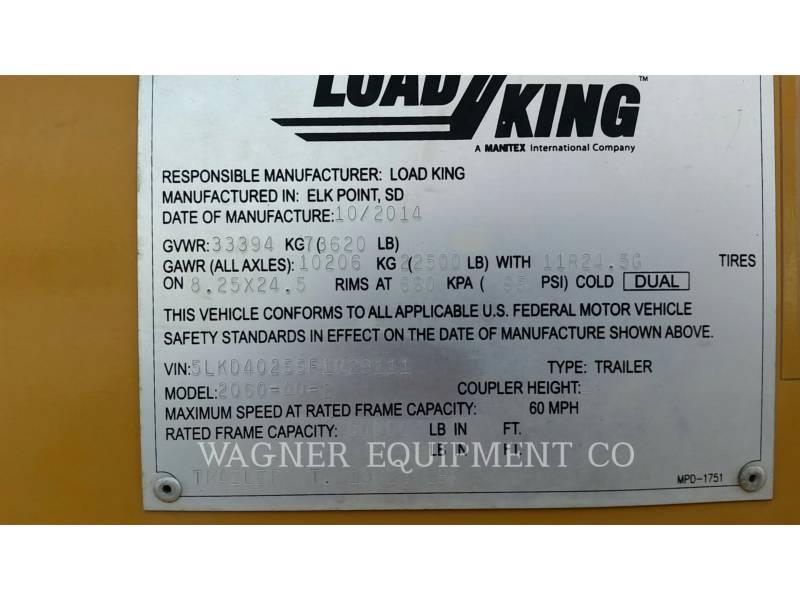 LOAD KING TRAILERS 2060-40-2 equipment  photo 13