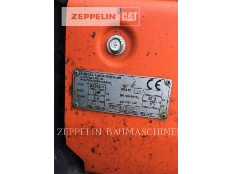 KUBOTA CORPORATION トラック油圧ショベル KX016-4 equipment  photo 8