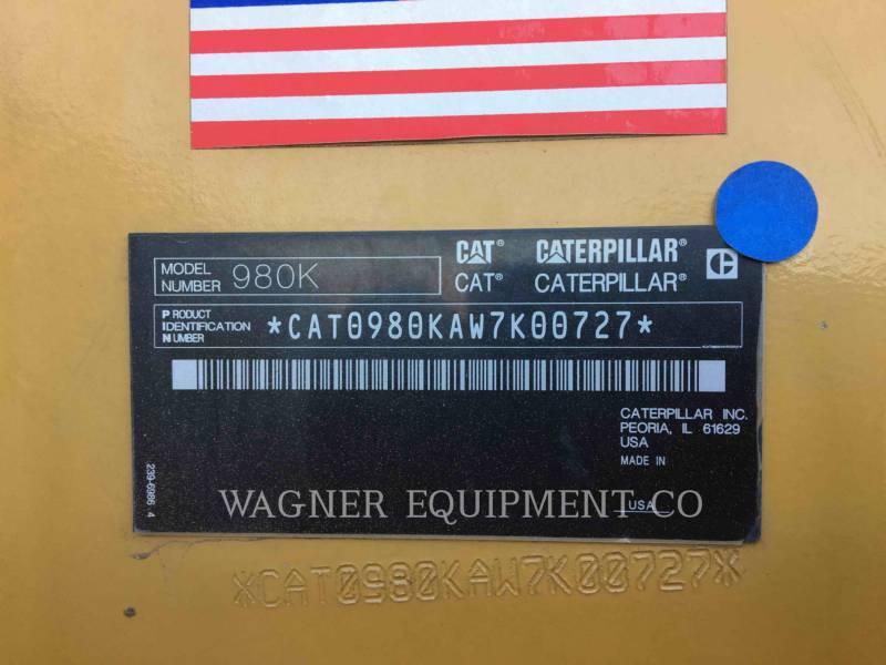 CATERPILLAR RADLADER/INDUSTRIE-RADLADER 980K equipment  photo 5