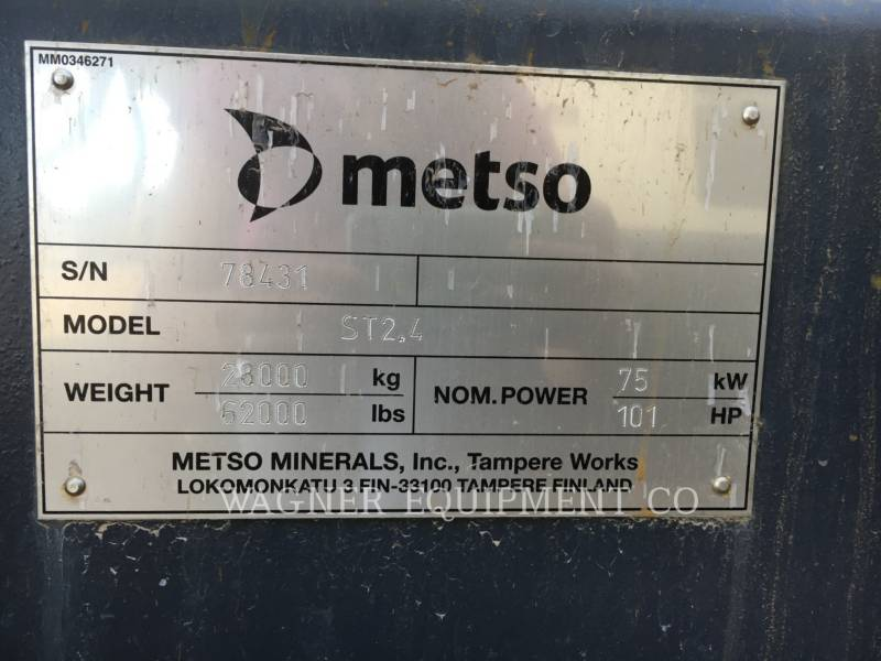 METSO TRITURADORAS ST2.4 equipment  photo 5