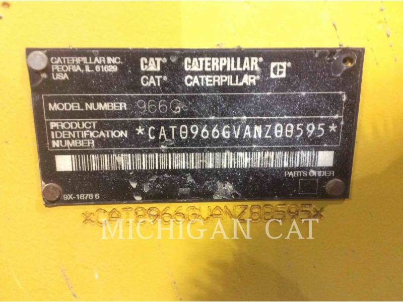 CATERPILLAR WHEEL LOADERS/INTEGRATED TOOLCARRIERS 966G equipment  photo 8