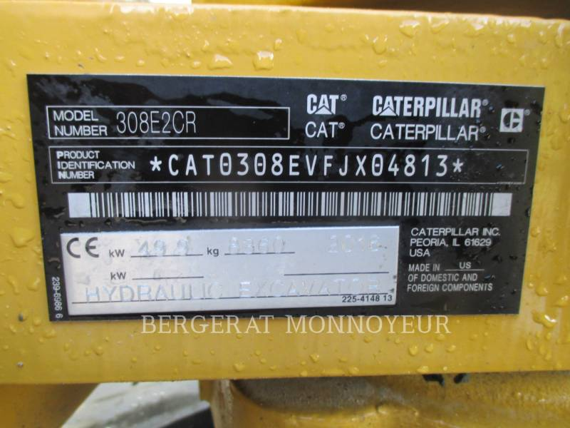 CATERPILLAR トラック油圧ショベル 308E2 CR equipment  photo 6