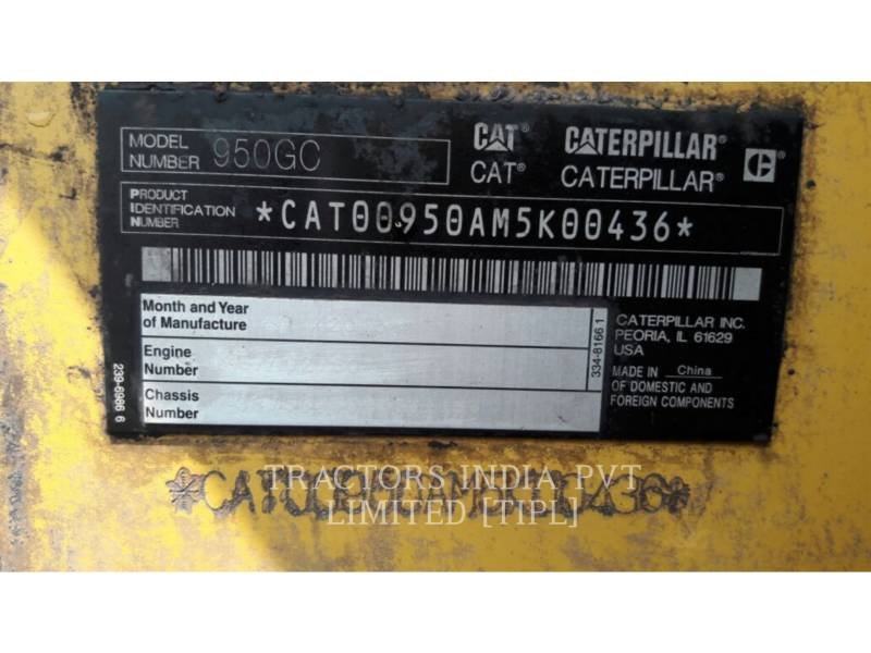 CATERPILLAR MINING WHEEL LOADER 950GC equipment  photo 14