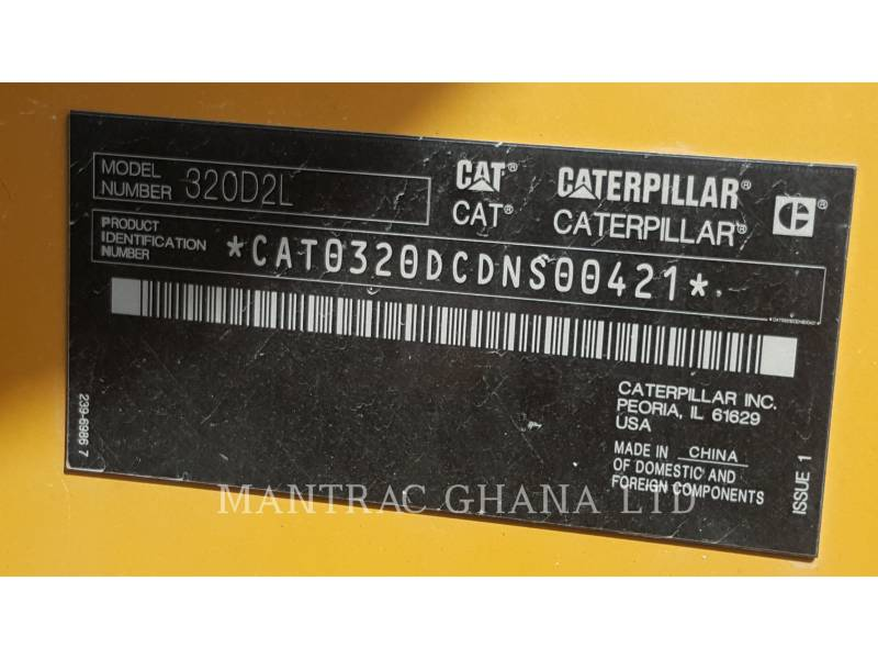 CATERPILLAR PELLES SUR CHAINES 320D2L equipment  photo 2