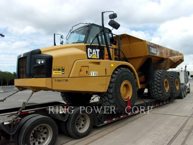 CATERPILLAR KNICKGELENKTE MULDENKIPPER 740BTG equipment  photo 1
