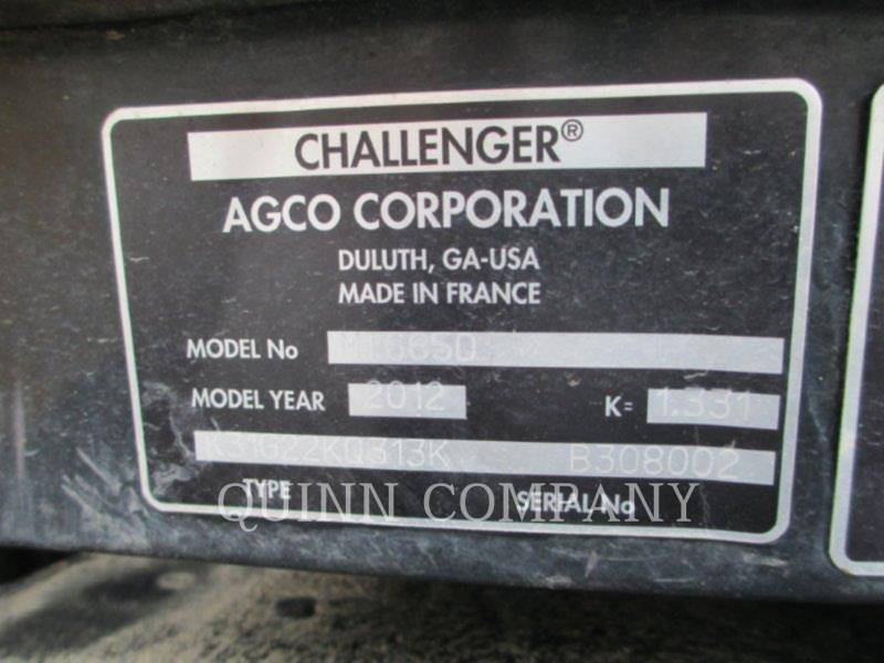 CHALLENGER TRACTEURS AGRICOLES MT665D equipment  photo 11