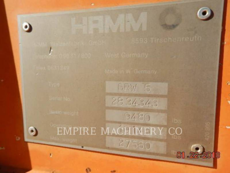 HAMM USA SONSTIGES ROLLER equipment  photo 6
