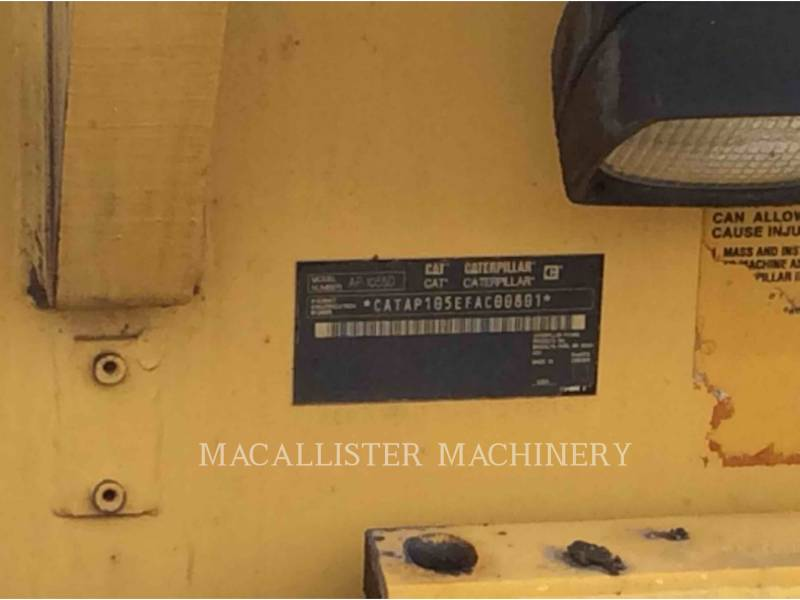CATERPILLAR FINISSEURS AP1055D equipment  photo 5