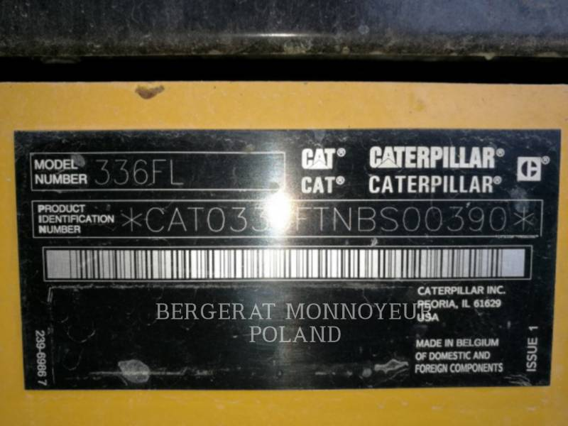 CATERPILLAR TRACK EXCAVATORS 336F equipment  photo 10