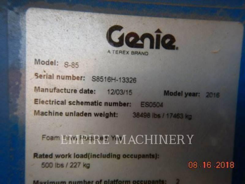 GENIE INDUSTRIES OTROS S-85 equipment  photo 6