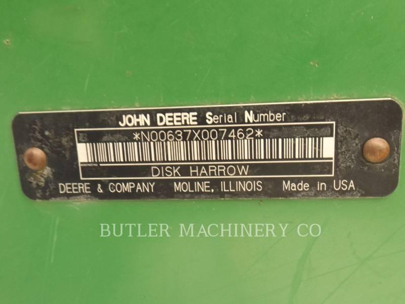 DEERE & CO. AG TILLAGE EQUIPMENT 637 equipment  photo 15