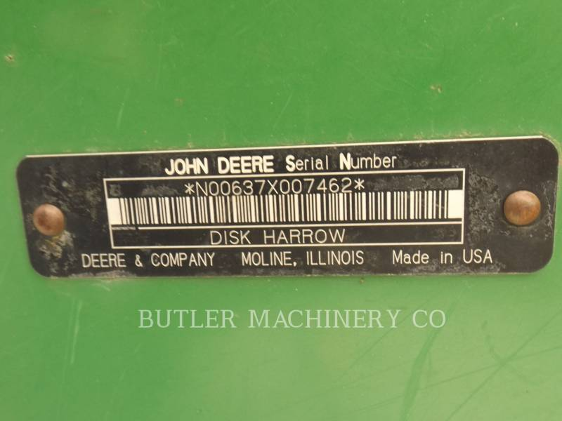 DEERE & CO. AG TILLAGE EQUIPMENT 637 equipment  photo 15