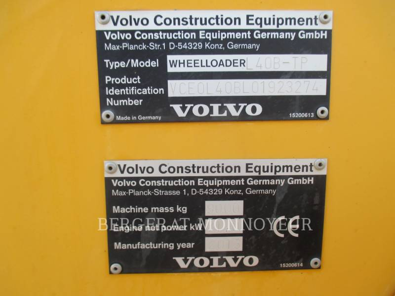 VOLVO CONSTRUCTION EQUIPMENT PALE GOMMATE/PALE GOMMATE MULTIUSO L40B equipment  photo 15