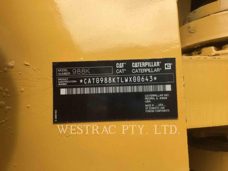CATERPILLAR MINING WHEEL LOADER 988KLRC equipment  photo 16