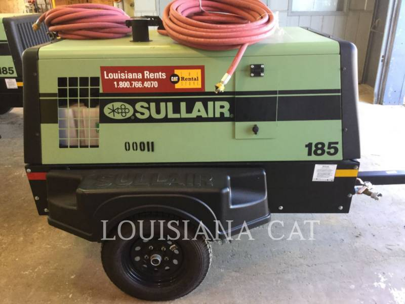 SULLAIR COMPRESSOR DE AR 185COMPWHL equipment  photo 4