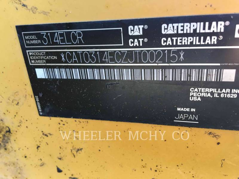 CATERPILLAR PELLES SUR CHAINES 314E L THM equipment  photo 6