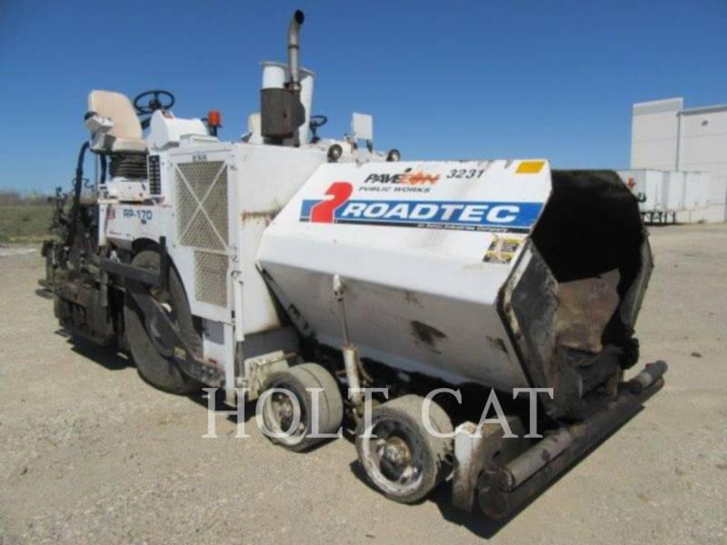 ROADTEC ASPHALT PAVERS RB170 equipment  photo 2