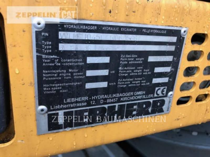 LIEBHERR PELLES SUR PNEUS A914CLIT equipment  photo 2