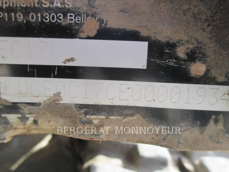 VOLVO CONSTRUCTION EQUIPMENT PELLES SUR CHAINES EC17C equipment  photo 3